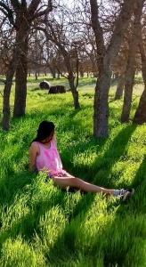 Relaxing in tall grass